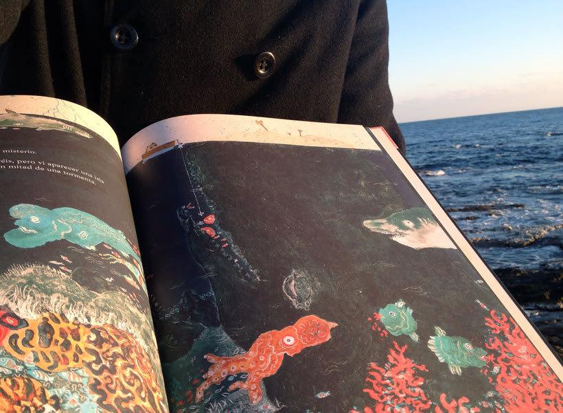 Ahab y la Ballena Blanca. Edelvives 2014. Libro-Álbum Infantil. 6