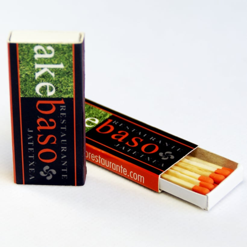 Cajas de Cerillas para Restaurante Akebaso 1