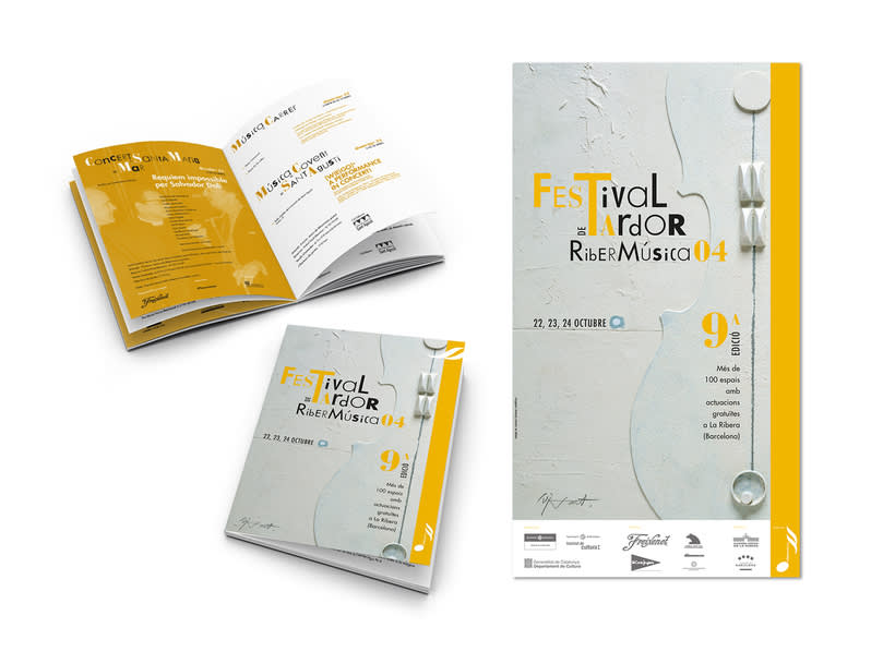 Design of the music festival & graphic materials 1