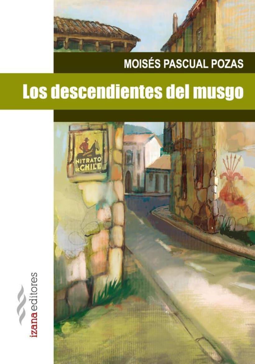 """Ilustración de portada """"Los descendientes del musgo"""" Moisés Pascual Pozas, para Izana Editores. 0"""