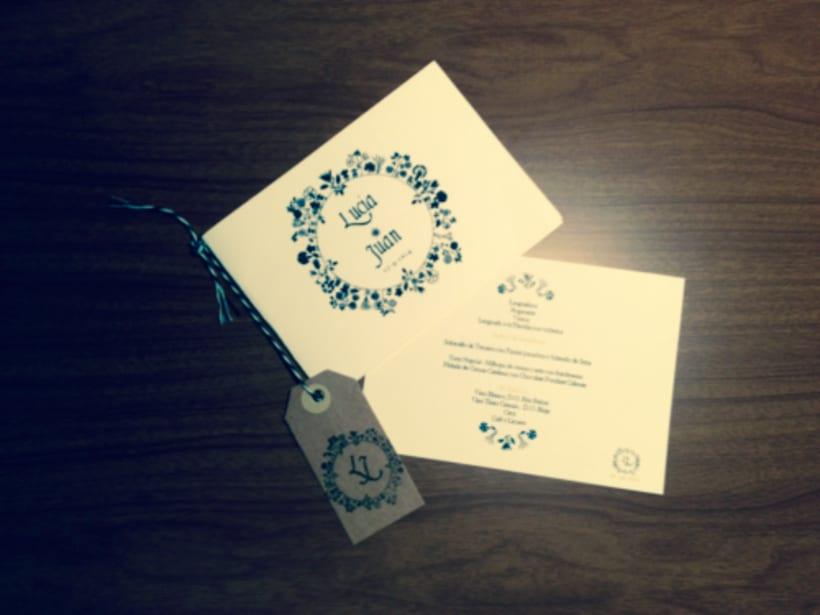 Invitación de boda para pareja de amigos 1