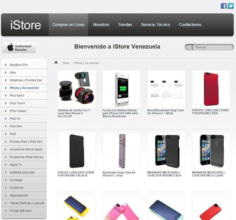 iStore | eCommerce | Venezuela 1
