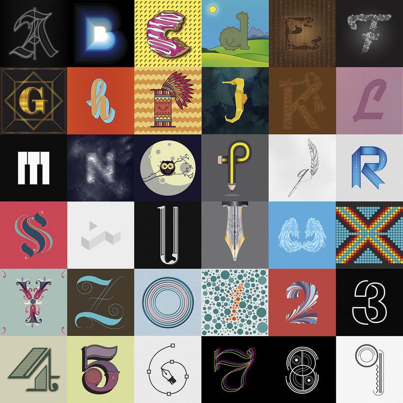 36 days of type. Segunda Edición 0