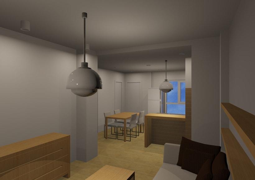 Dise o reforma parcial en vivienda domestika for Diseno vivienda