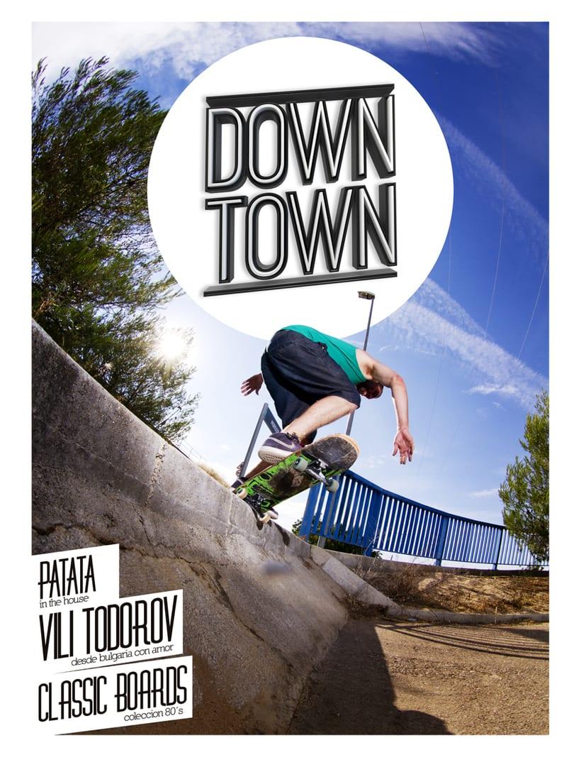 LOGOTIPO + PORTADA (Down Town Skate Mag) 2