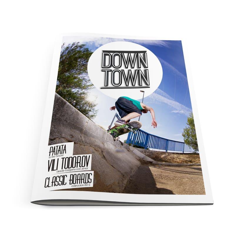 LOGOTIPO + PORTADA (Down Town Skate Mag) 3
