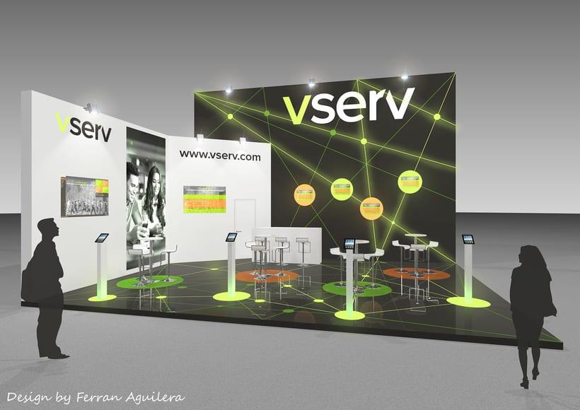 Diseño de un stand para Vserv -1