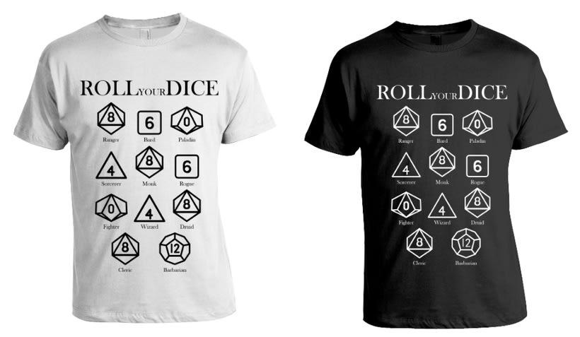 Diseño de Camisetas - Rol D&D -1