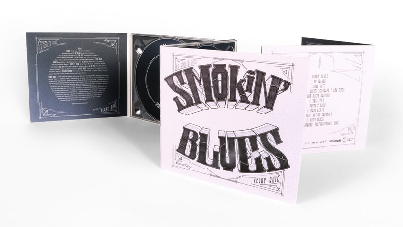 DISEÑO DE DISCO EN DIGIPACK (Smokin Blues) 6