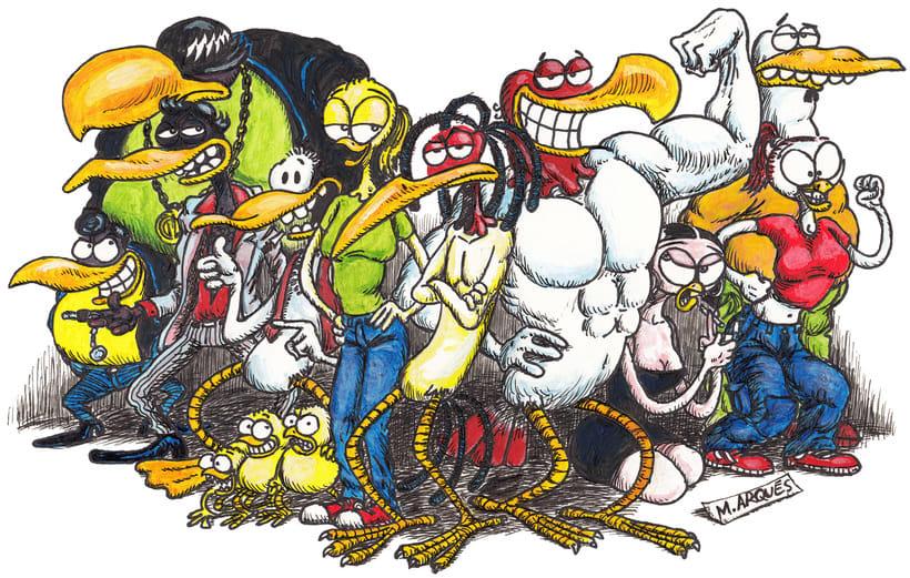 """Ilustraciones para Cómic """"¡Vida de Pollo!"""" -1"""