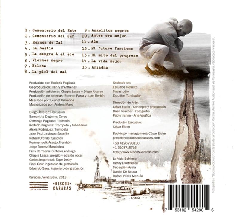 """Cd """"Será"""" de La Vida Bohème y material de gira 2014. 3"""