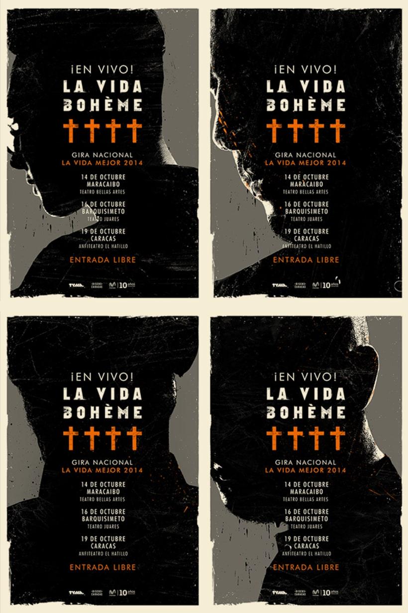 """Cd """"Será"""" de La Vida Bohème y material de gira 2014. 9"""