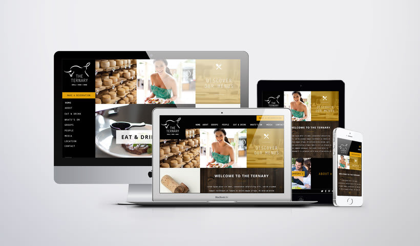 Responsive design The Ternary Restaurant 0