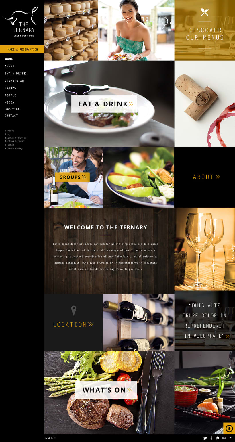 Responsive design The Ternary Restaurant 1