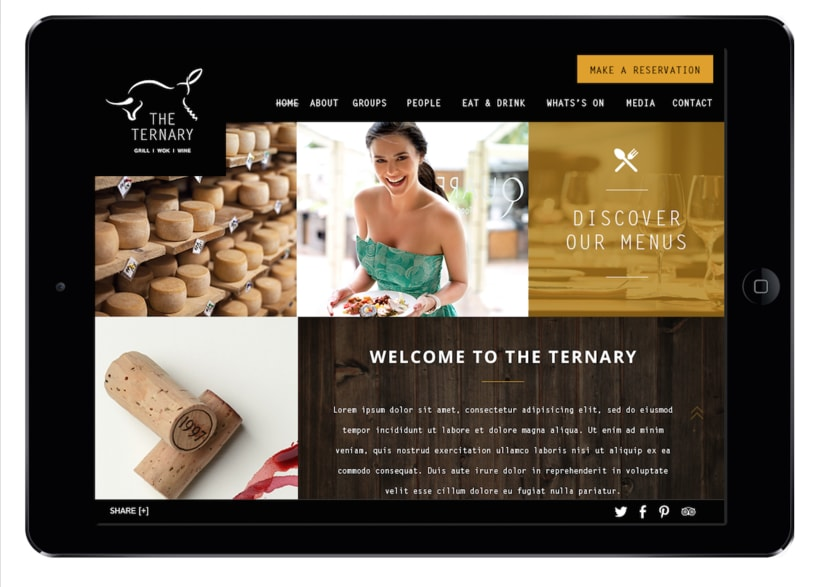 Responsive design The Ternary Restaurant 2