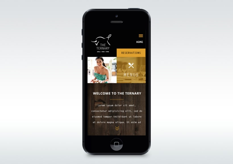 Responsive design The Ternary Restaurant 4