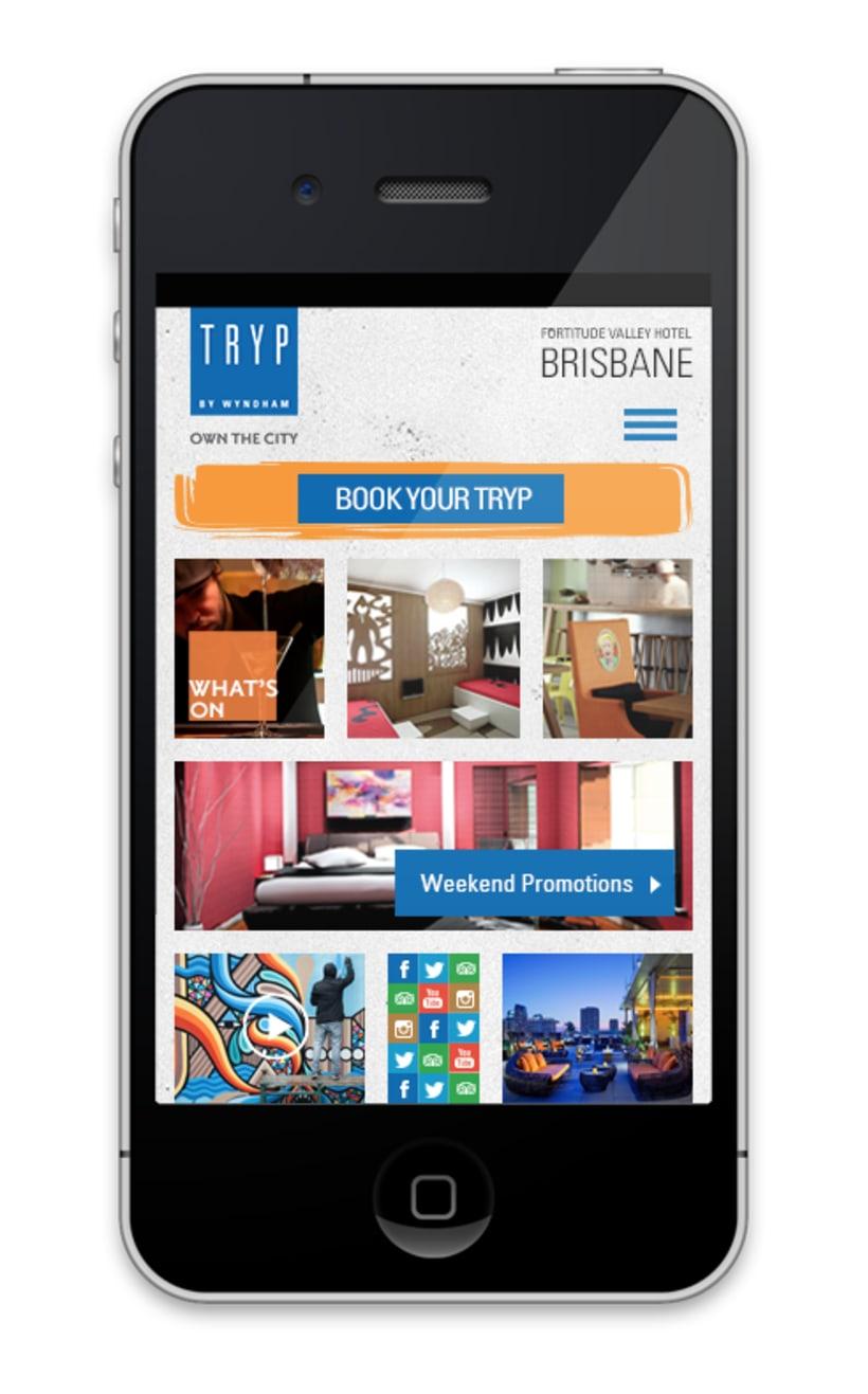 Responsive design TRYP Hotel  0
