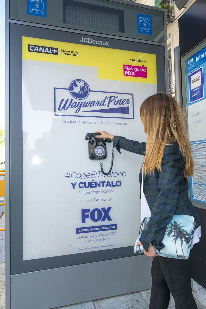 #CogeElteléfono Lanzamiento mundial de la serie Wayward Pines para Fox International Channels 1