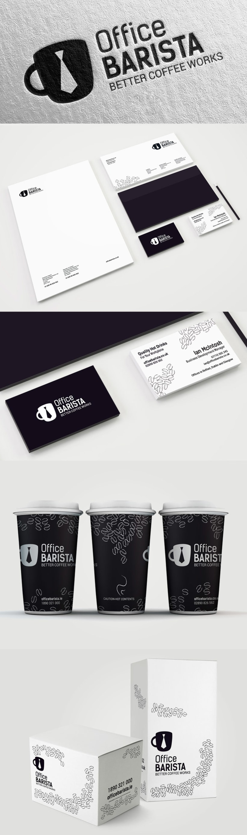 Office Barista. Branding and packaging design 0