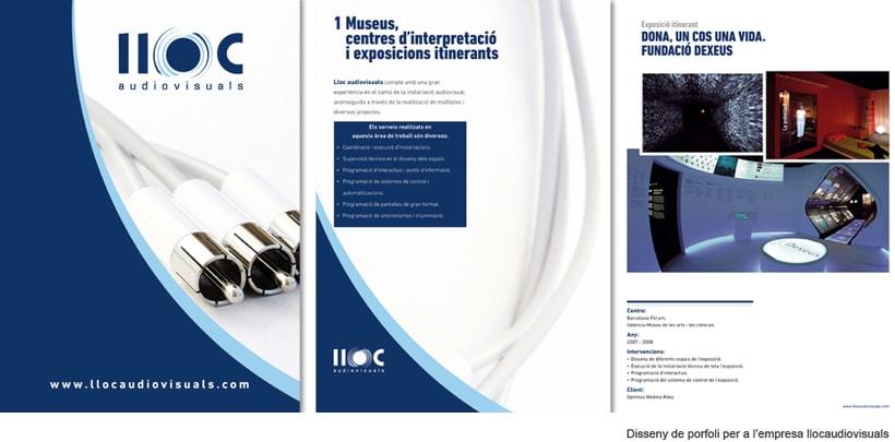 Lloc audiovisuales,  diseño de logo y porfolio. -1