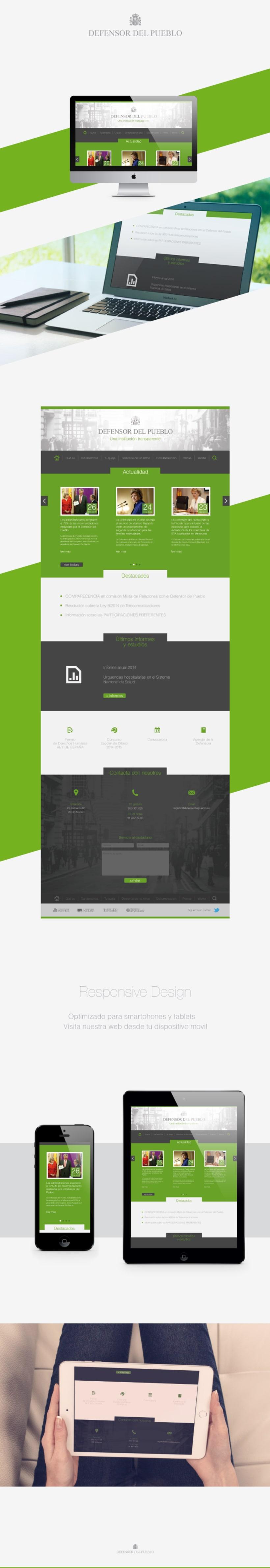 Defensor del Pueblo, web & Responsive Design -1