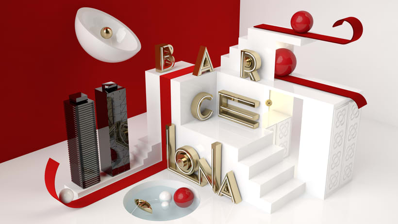 Proyecto BARCELONA del curso Dirección de Arte con Cinema 4D 1