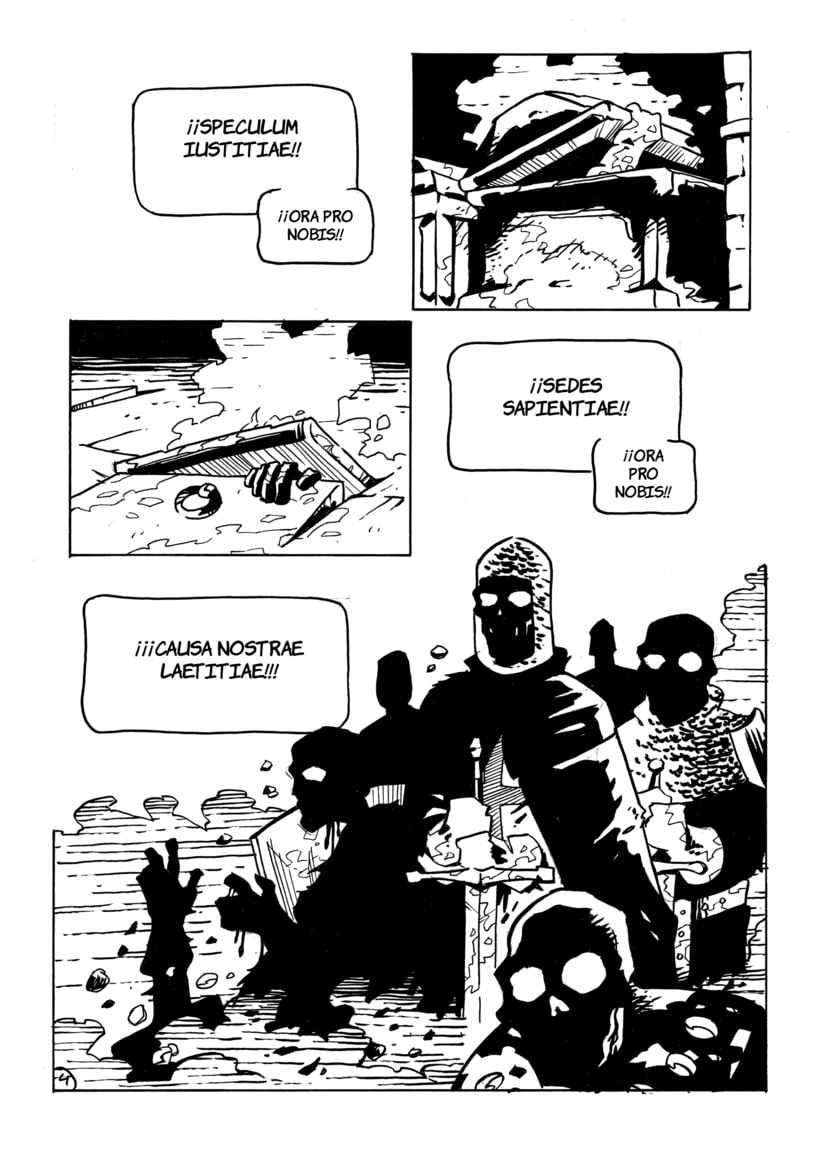"""Páginas 3, 4 y 5 del cómic """"La Tradición"""" para el libro """"De sirenas, dragones y fantasmas"""" (Eds. Aristas Martínez y El Verano del Cohete) -1"""