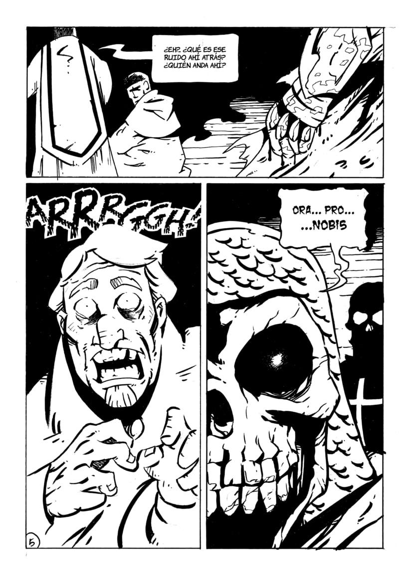"""Páginas 3, 4 y 5 del cómic """"La Tradición"""" para el libro """"De sirenas, dragones y fantasmas"""" (Eds. Aristas Martínez y El Verano del Cohete) 1"""