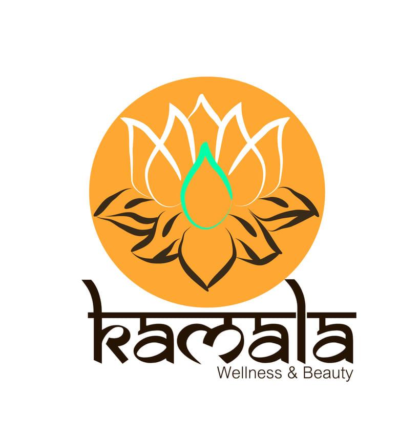 """Logotipo Centro Spa & Beauty """"Kamala""""  1"""