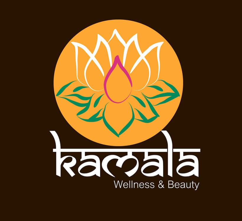 """Logotipo Centro Spa & Beauty """"Kamala""""  0"""