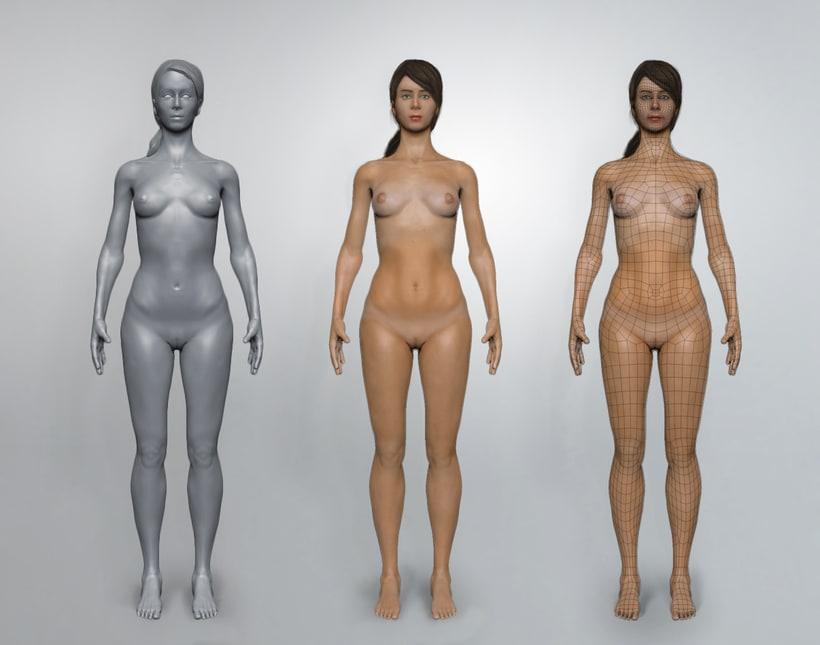 Anatomía 3D en Zbrush - Base mesh female -1