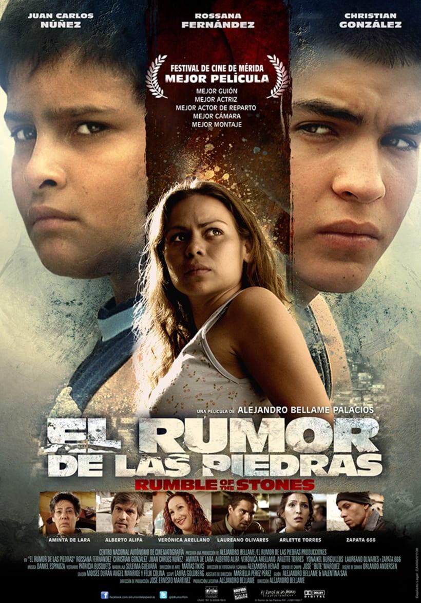 El Rumor de las Piedras, diseño de poster y proceso. 1