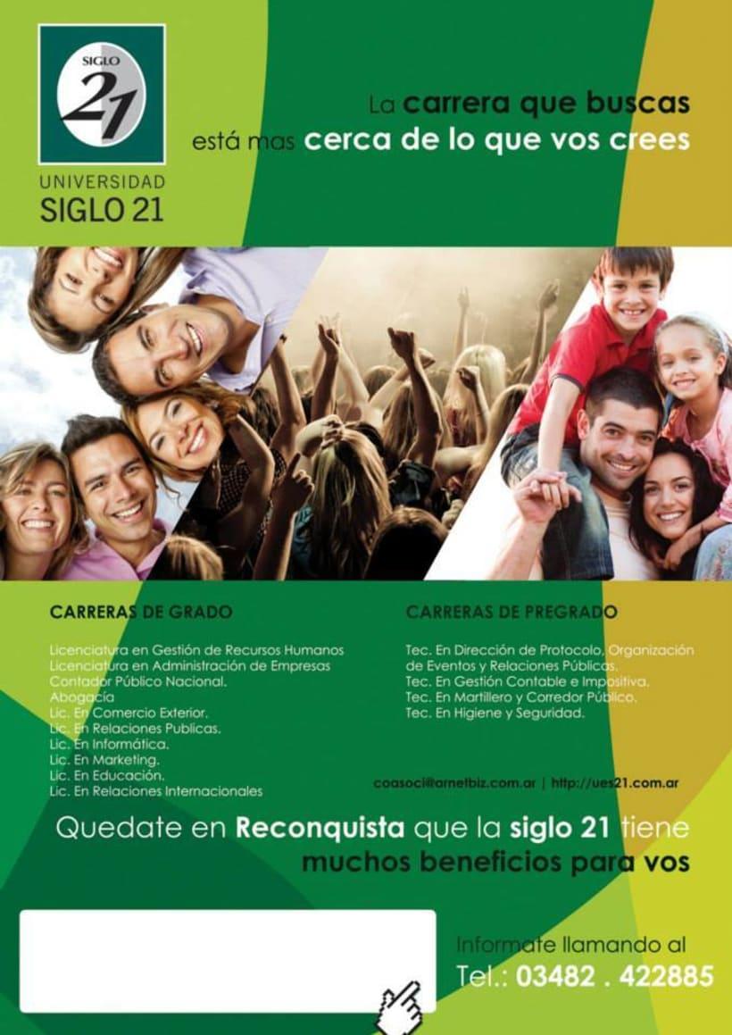 Afiche Universidad siglo 21 -1