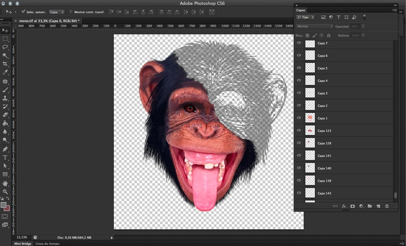 chimpance. Photoshop brushes. 4