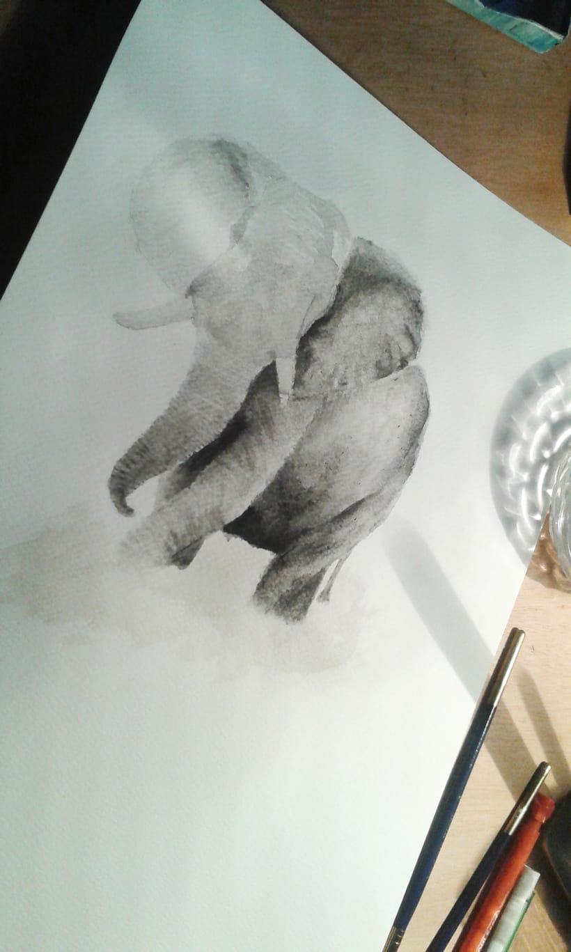 Elefante Acuarela. 2