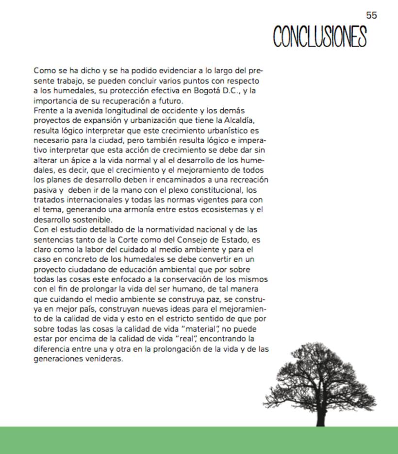 Humedales Bogota. Diagramación. 6