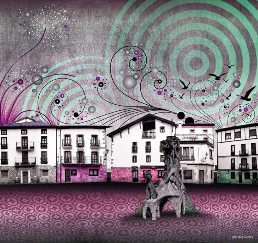 Panorámica / Altsasuko plaza - Plaza de Alsasua (Navarra) 4