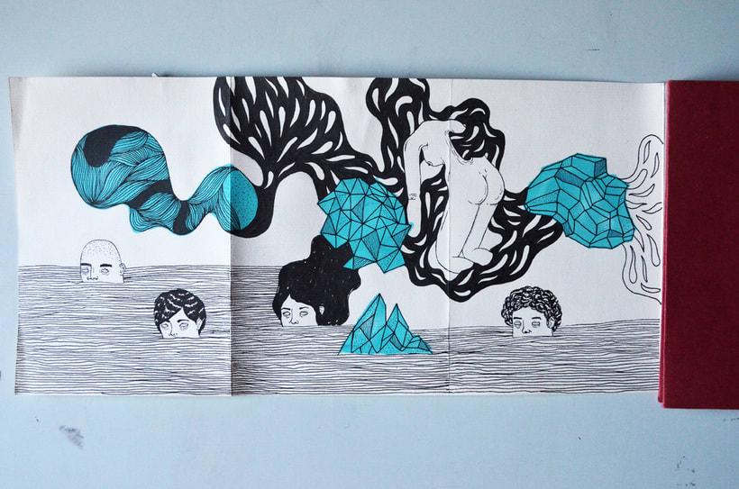Proceso dibujo en una Croquera Humboldt de 5m. -1