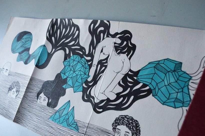 Proceso dibujo en una Croquera Humboldt de 5m. 0