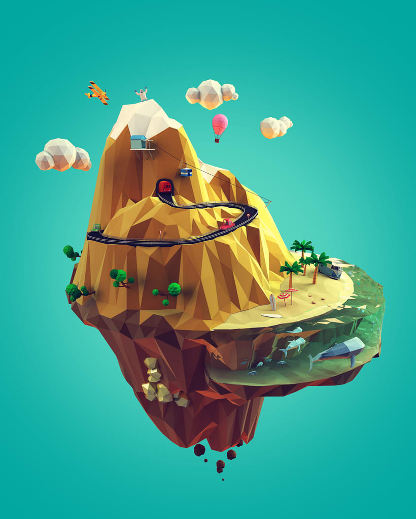 Low poly mountain 1