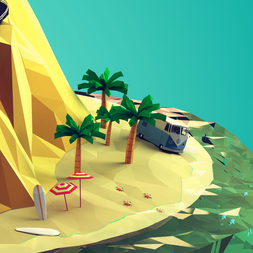 Low poly mountain 3