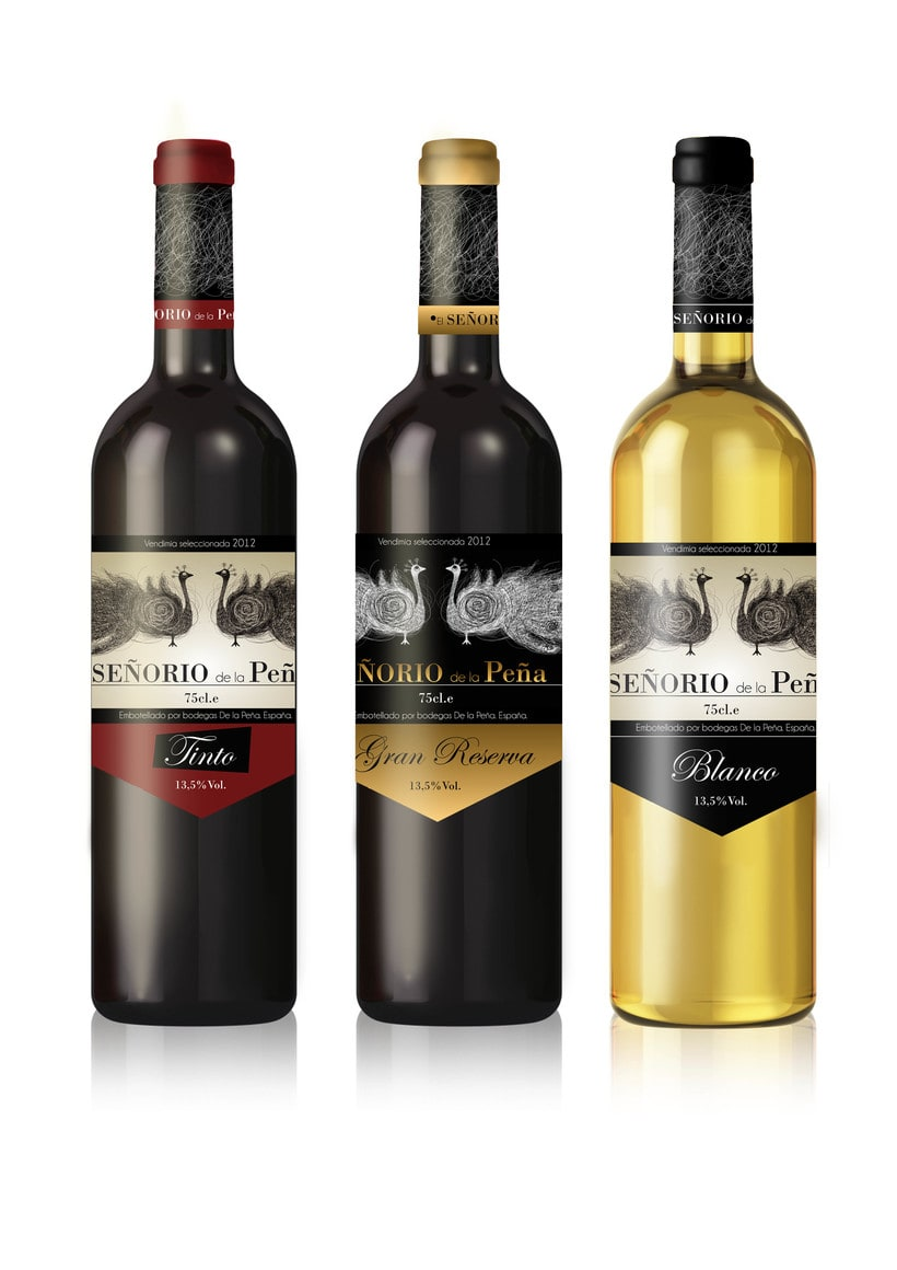 "Etiquetas vino ""Señorío de la Peña"" 0"