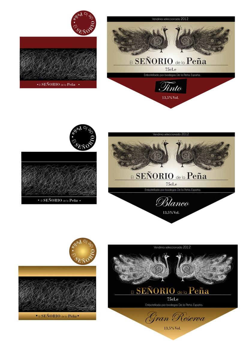 "Etiquetas vino ""Señorío de la Peña"" 1"