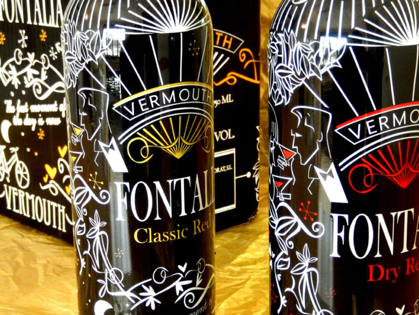 Diseño packaging Vermouth FONTALIA Classic Red y Dry Red 1