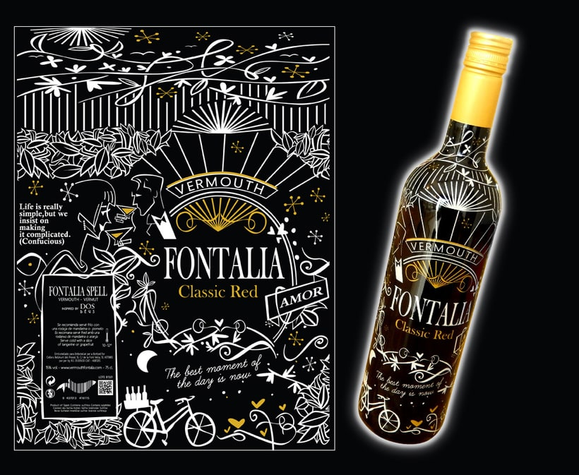 Diseño packaging Vermouth FONTALIA Classic Red y Dry Red 2