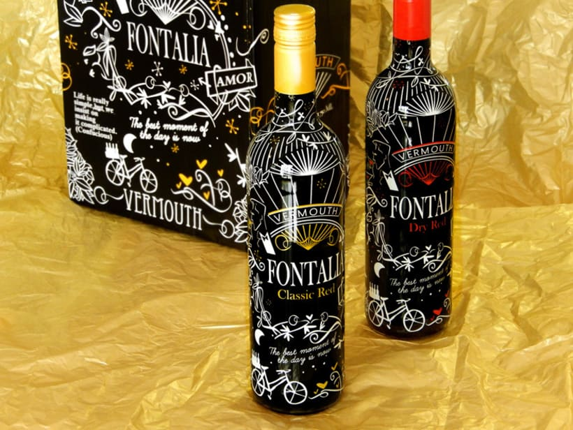 Diseño packaging Vermouth FONTALIA Classic Red y Dry Red 0