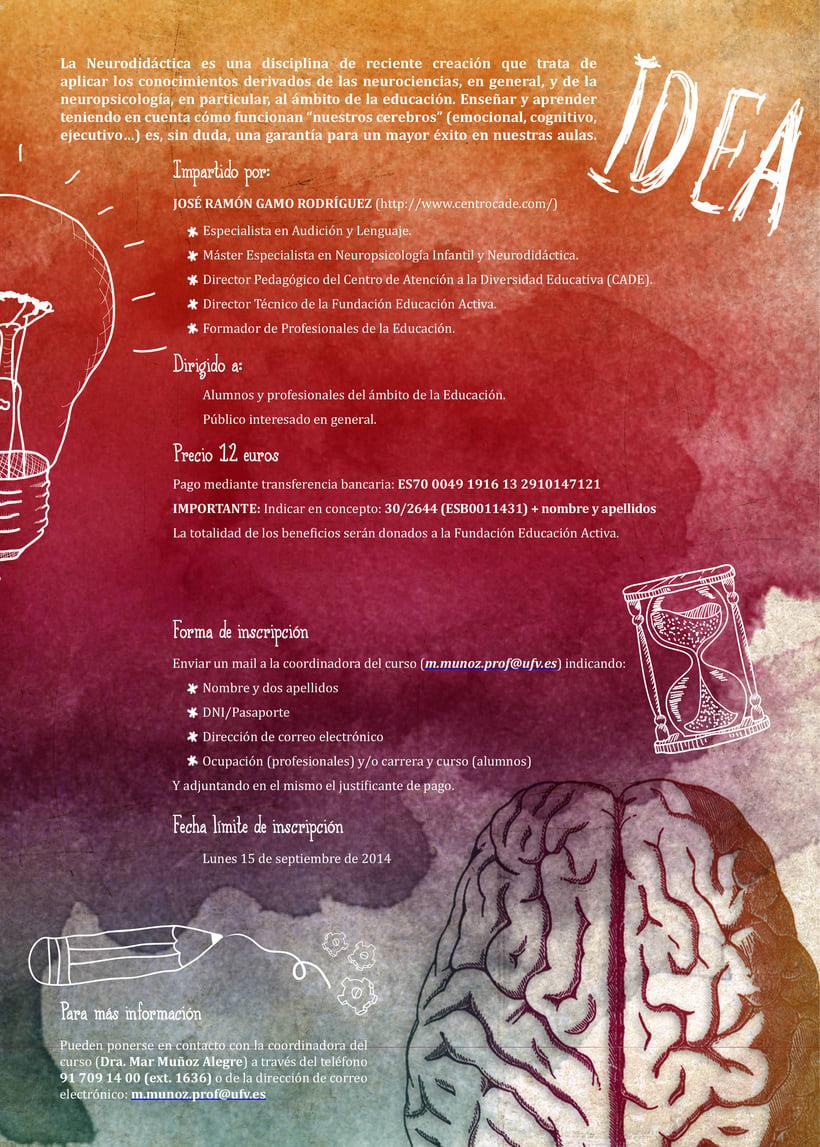 """Diptico para el taller """"Introducción a la Neurodidáctica"""" 1"""