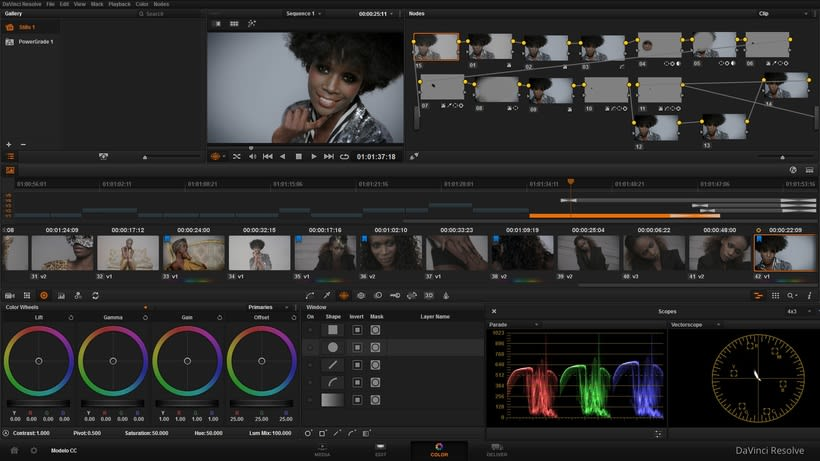 Corrección de color en vídeo con Davinci Resolve [color grading] -1