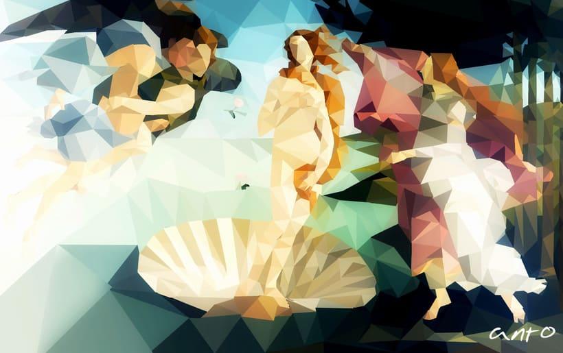 Nacimiento de Venus, Poly art -1