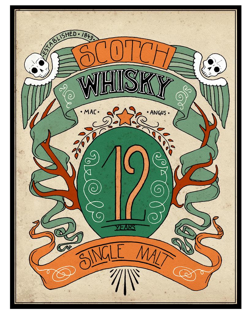 Scotch Whisky label 2